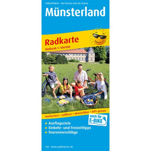 Münsterland bike tour map