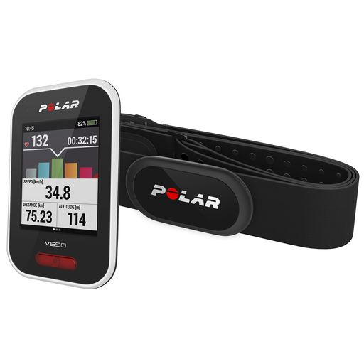 V650N GPS bike computer with H10 heart rate sensor