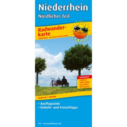 Bike tour map Niederrhein – northern part