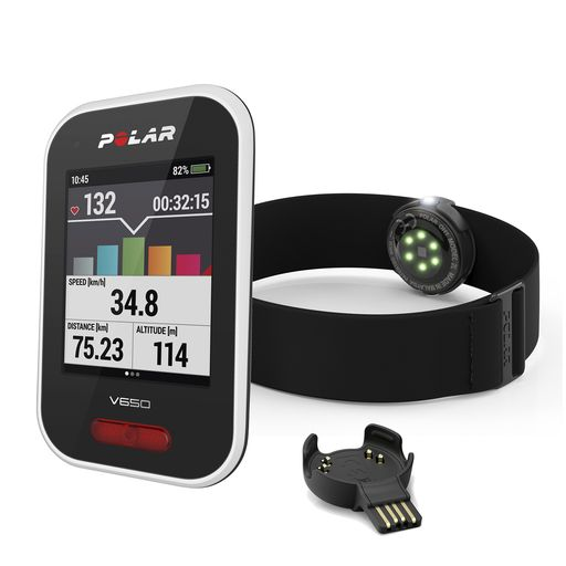 V650N GPS bike computer with OH1 optical heart rate sensor