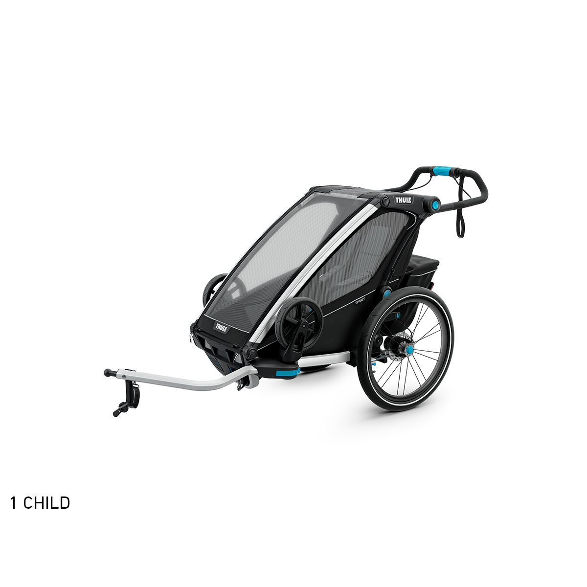 Chariot Sport Black child bike trailer