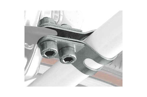 clamp pair for seat struts attachment